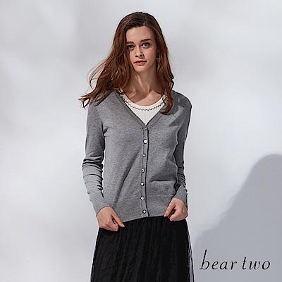 beartwo 網路獨家-簡約V領開襟針織外套(二色)