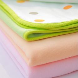 COTEX 可透舒 圓點毛巾絨防水透氣超柔尿墊 粉綠  1入