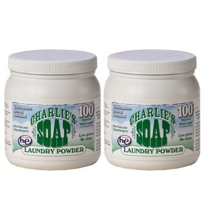 查理肥皂 Charlie s Soap 洗衣粉(1.2公斤 X 2罐)