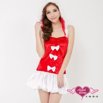 耶誕服 聖誕序曲 狂熱聖誕舞會角色服(紅) AngelHoney天使霓裳