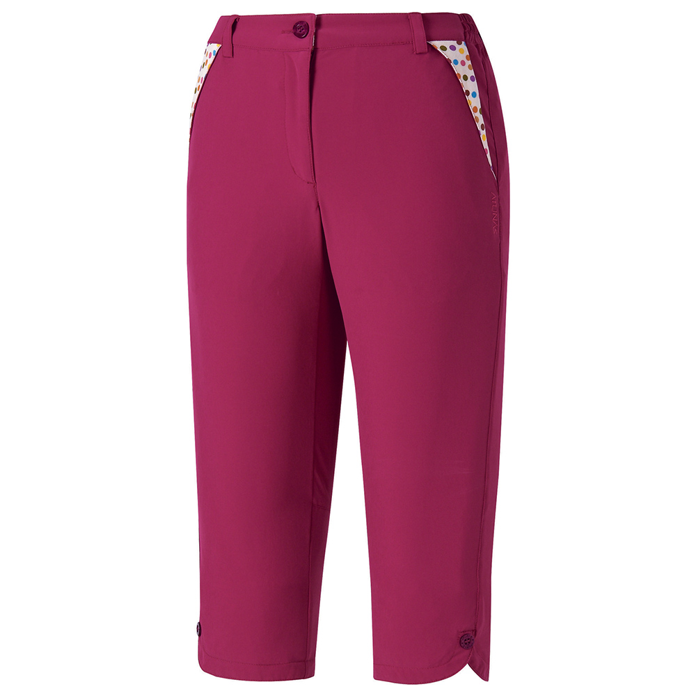 【ATUNAS 歐都納】女款防曬彈性透氣休閒七分褲 A-PA1503W 紫紅