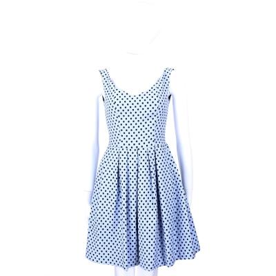 PINKO 水藍色圓點無袖洋裝/連身裙