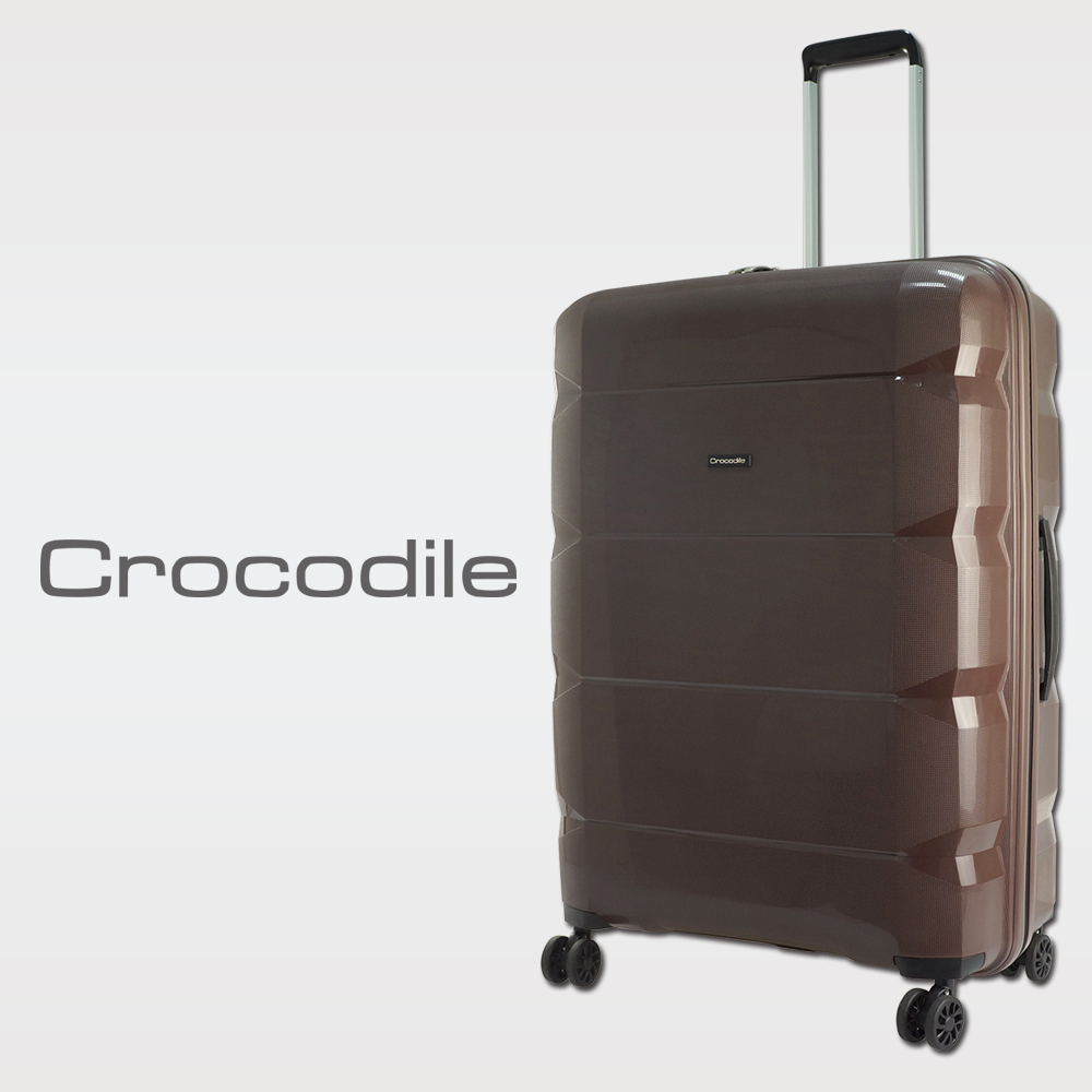 Crocodile PP拉桿箱含TSA鎖-濃情咖-24吋 0111-6624-02