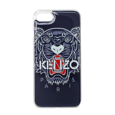 KENZO 3D立體彩繪虎頭 I Phone 7(4.7吋) 軟膠手機殼 深藍