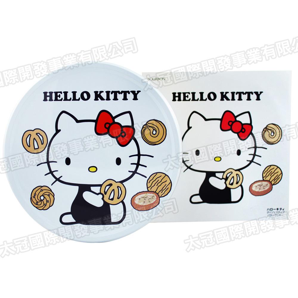 北日本 Kitty凱蒂貓圓罐餅乾禮盒-奶油口味(60枚/盒)