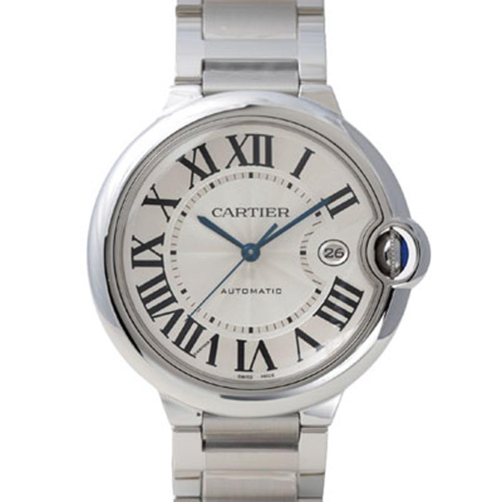 (無卡分期24期) CARTIER Ballon Bleu 經典羅馬時標機械腕錶-42mm
