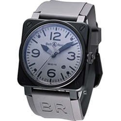 Bell & Ross BR03 經典機械腕錶-槍灰色/42mm