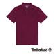 Timberland 男款紫紅色刺繡字樣短袖