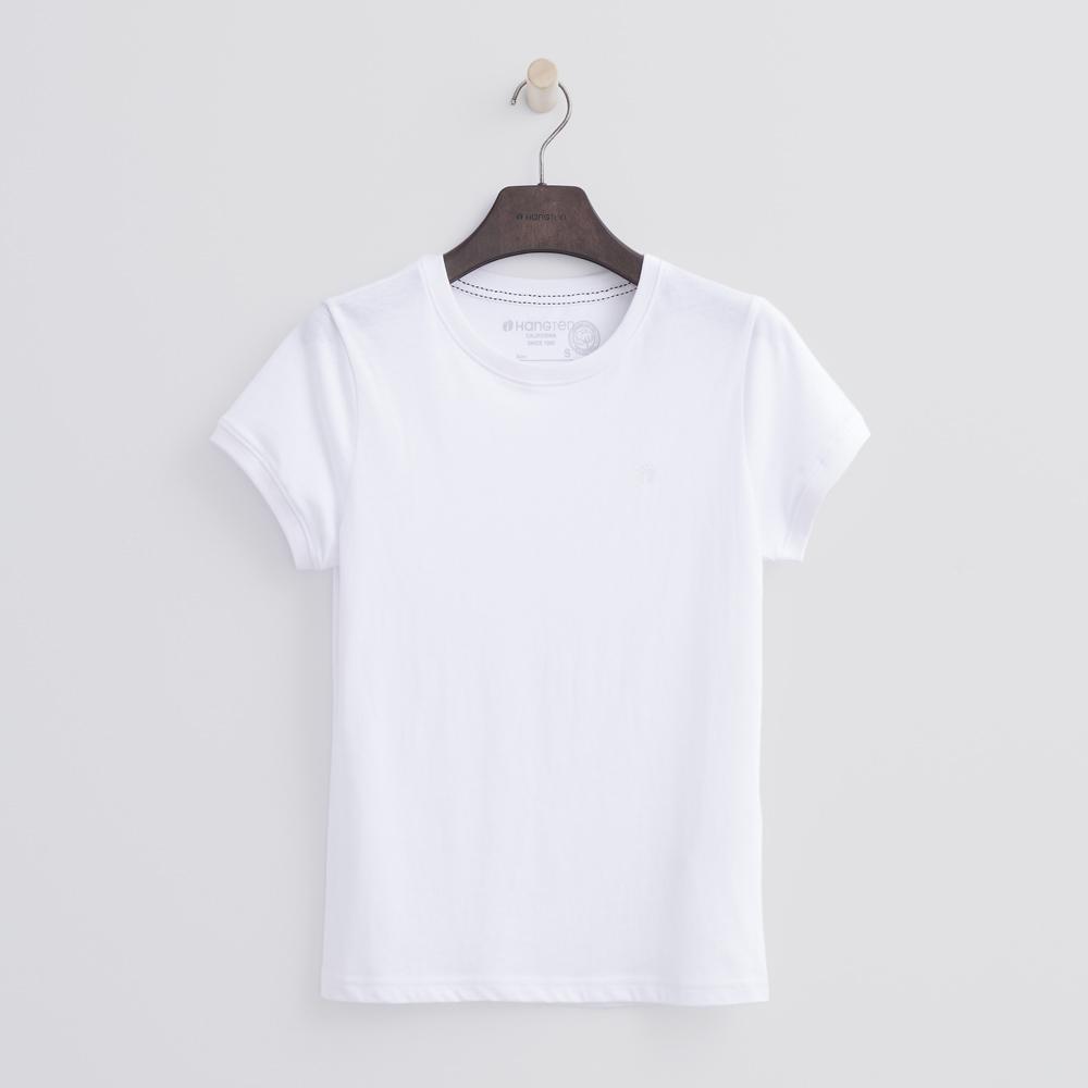 Hang Ten - 女裝 - 有機棉 圓領多彩T恤-白色