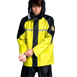 BrightDay悍動兩件式風雨衣-黃
