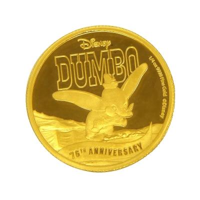 2016年紐埃(Niue) 小飛象75週年-迪斯尼金幣 -1/4盎司
