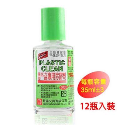 巨倫 H-1136 壓克力塑膠專用除膠劑35ml-12瓶入