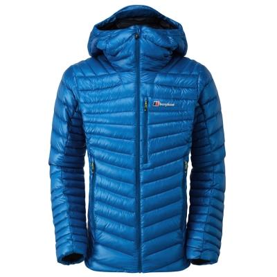 【Berghaus 貝豪斯】男款輕量溫度調節防潑水鵝絨外套F22MM6藍