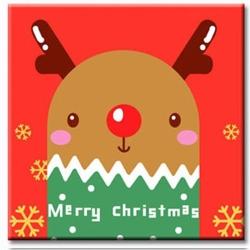 LOVIN 超萌韓版數字油畫 聖誕米鹿A 1幅 20x20cm