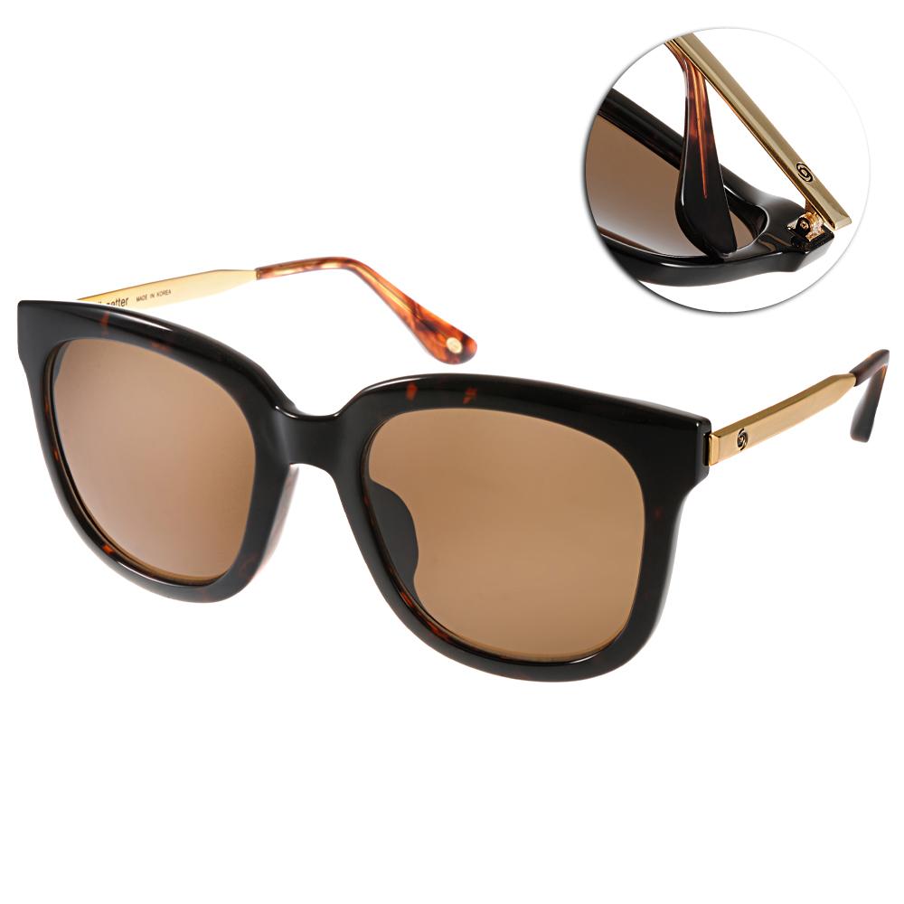 Go-Getter太陽眼鏡 個性方框/琥珀-金#GS4001 05