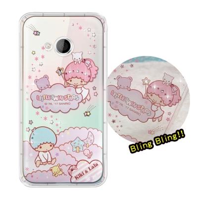 正版雙子星 HTC U Play 5.2吋 夢幻童話 彩鑽氣墊手機殼(雙子雲朵)