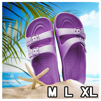 MRX 超輕盈室內外止滑休閒拖 可愛紫