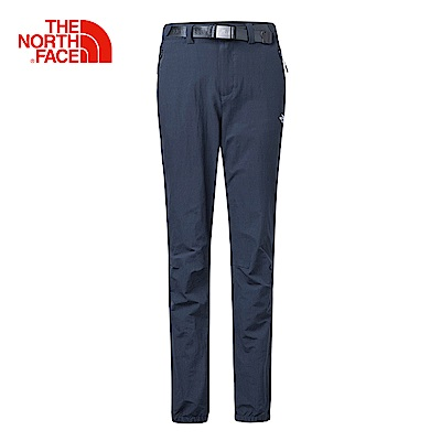 The North Face北面女款藍色吸濕快乾休閒長褲