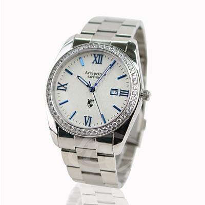 Arseprince米蘭時尚經典鑽進中性錶-白藍