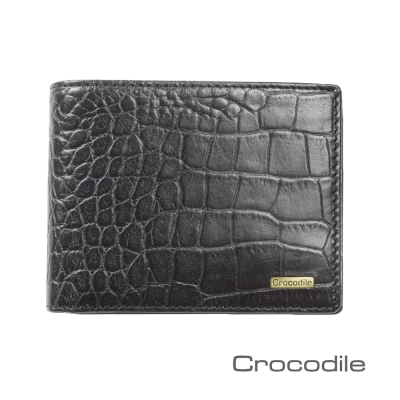 Crocodile Croco系列鱷魚壓紋短夾-薄型款0103-5005
