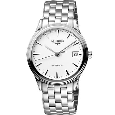 LONGINES Flagship 經典純粹機械腕錶-白/38.5mm