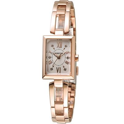 WICCA 愛戀甜心限量腕錶(BE1-020-23)-銀x玫瑰金/18mm