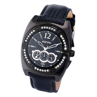 GOTO炫爛時光多功能腕錶-IP黑/45mm