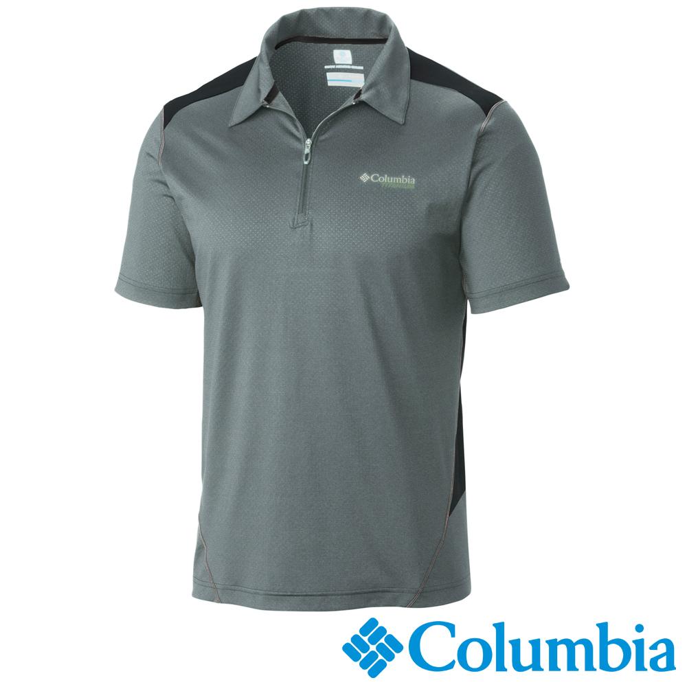 【Columbia哥倫比亞】男-鈦酷涼快排短袖POLO衫-灰 UAE15830GY