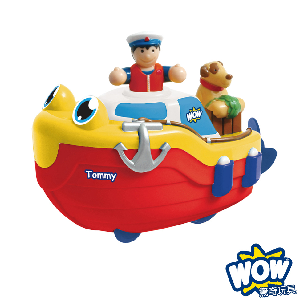 【WOW Toys 驚奇玩具】洗澡玩具 - 探險快艇 湯米