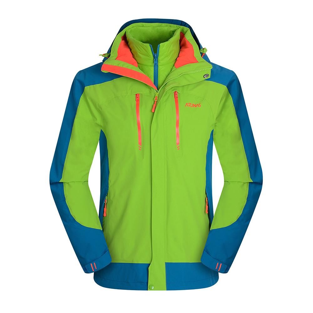 ATUNAS 歐都納 防水科技保暖纖維二件式男外套 A-G1656M 果綠/湖藍