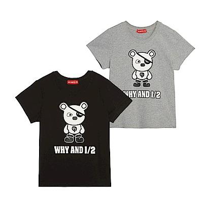 WHY AND 1/2 普普熊棉質萊卡T恤 5Y~10Y 多色可選