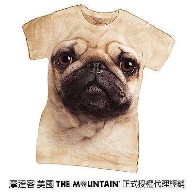 摩達客 美國進口The Mountain 巴哥犬臉 短袖女版T恤