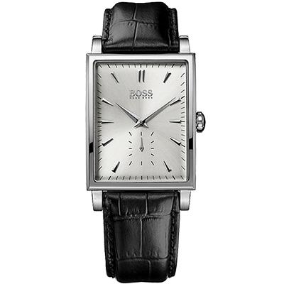 Hugo Boss 德式風格小秒針腕錶-銀/ 31 mm