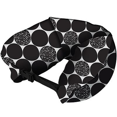 DQ全面9折- 扣式顆粒護頸枕(黑普普)
