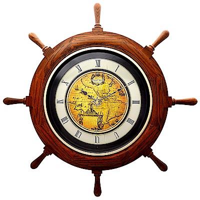 RHYTHM麗聲 時間之舵造型報時音樂掛鐘/64cm