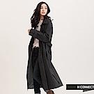 H:CONNECT 韓國品牌女裝-雙排釦純色風衣
