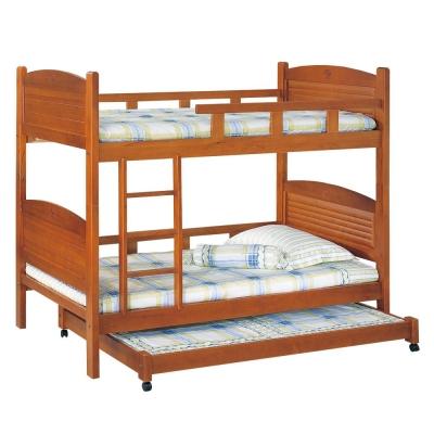 愛比家具 德凱3.5尺三層床(兩色可選.不含床墊)