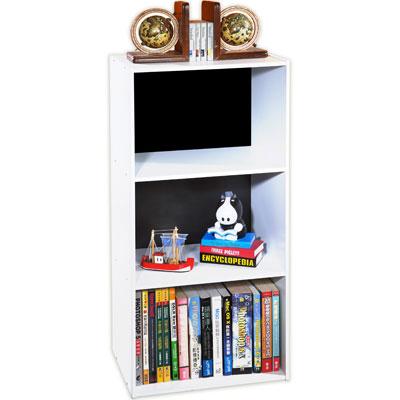 《米蘭》DIY三格收納櫃/書櫃 (黑+白)
