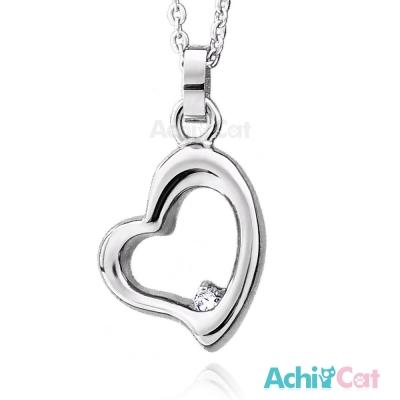 AchiCat 珠寶白鋼項鍊 時尚愛心