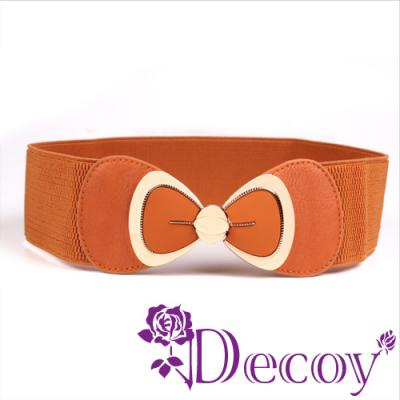 Decoy 裙襬蝴蝶結 金框皮革彈性腰封 四色可選