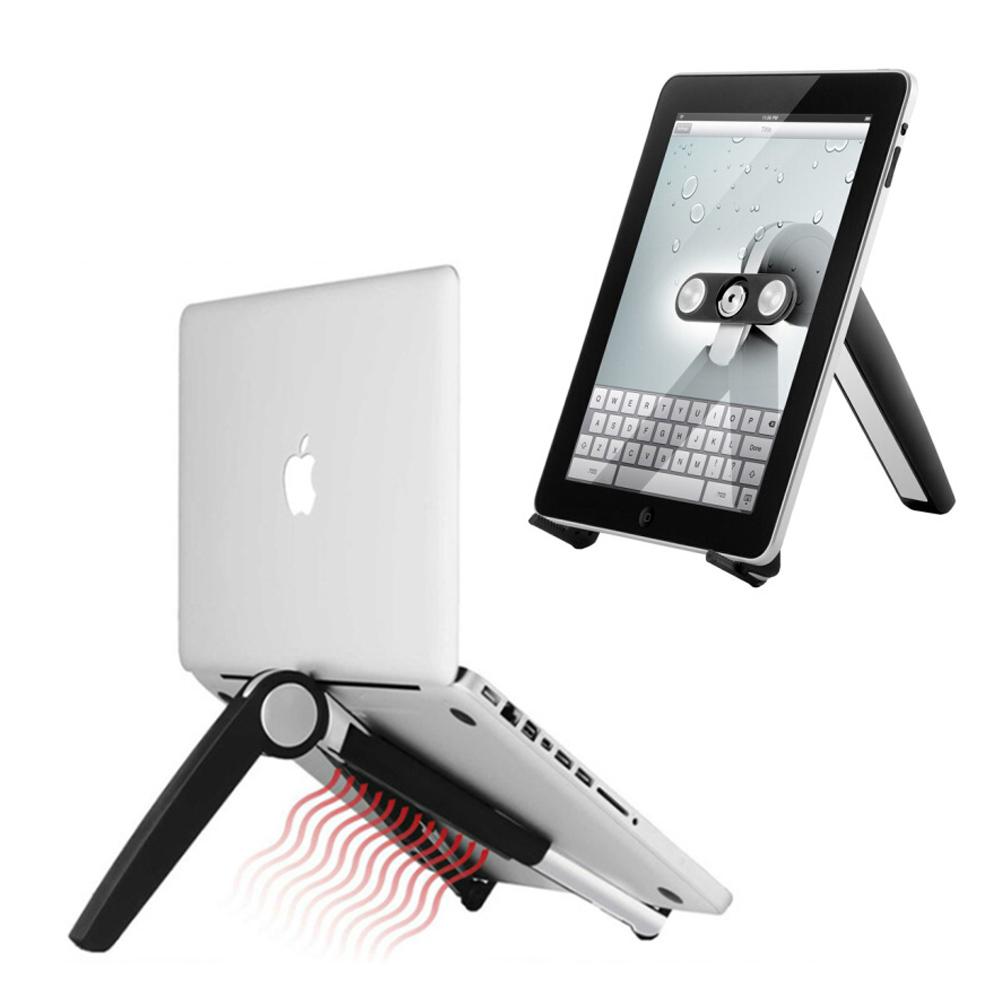 手機/平板/筆電 可折疊多功能散熱三腳支架 便攜式電腦支架