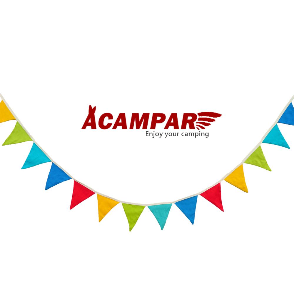 ACAMPAR 戶外露營RV 彩色三角旗 警示彩帶 繽紛小裝飾 -快速到貨