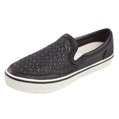 (男/女)Ponic&Co美國加州環保防水編織懶人鞋-黑色