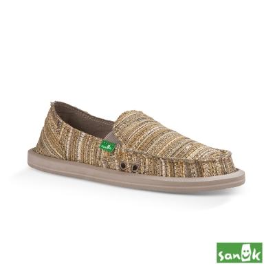 SANUK 民俗針織懶人鞋-女款(米黃色)