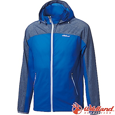 Wildland 荒野 0A61906-70寶藍色 男彈性可溶紗17D外套