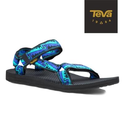 TEVA 美國-男 Original Universal 緹花涼鞋 (波浪藍)