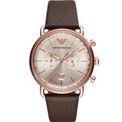 Emporio Armani  復刻時尚計時腕錶(AR11106)玫瑰金色/43mm