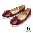 BUTTERFLY TWISTS-ROBYN可折疊扭轉芭蕾舞鞋-寶石紅