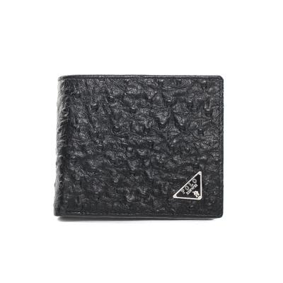XINWEI POLO 英式設計質感鴕鳥壓紋小牛皮短夾-86340-A