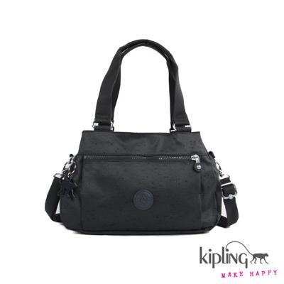 Kipling-手提包-率性魅深藍素面